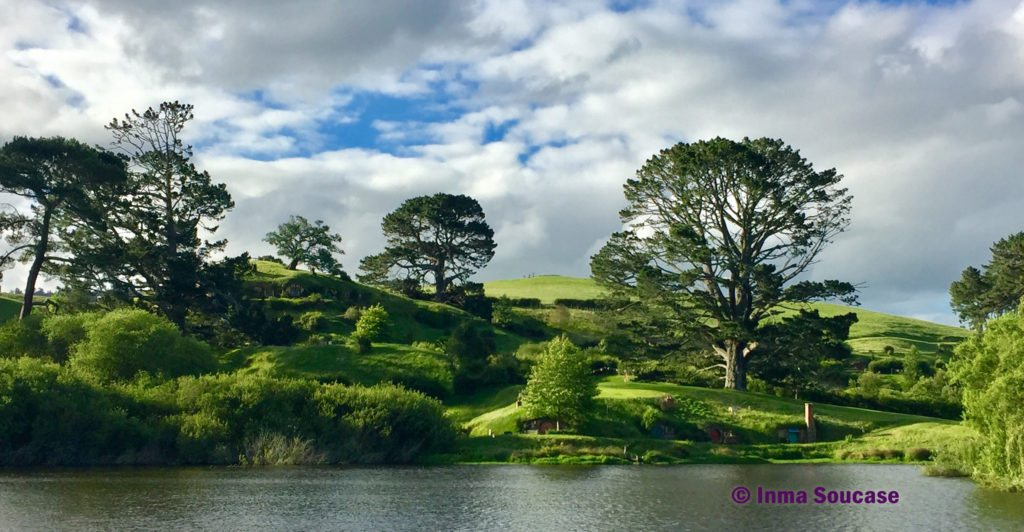Hobbiton movie set arboles