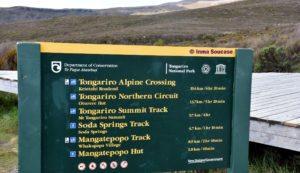 Parque Nacional Tongariro cartel rutas