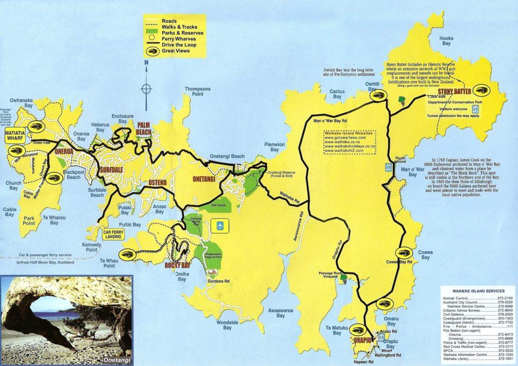 isla waiheke mapa