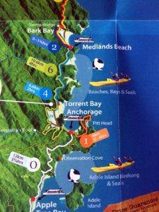 mapa detalle Parque Nacional Abel Tasman